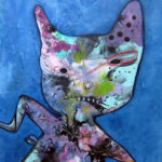 """Mixed media painting """"Awkward Phase,"""" by Oregon artist Riis Griffen."""