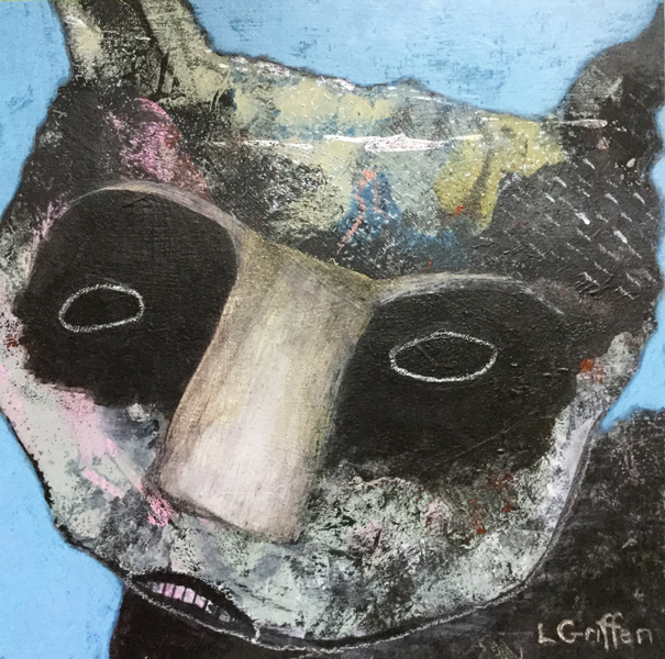 """Mixed media painting """"Wild Thing,"""" by Oregon artist Riis Griffen."""